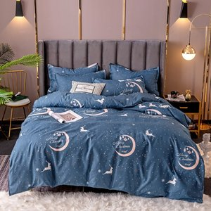 fashion bedding set Pure cotton A B double-sided pattern Simplicity Bed sheet, quilt cover pillowcase
