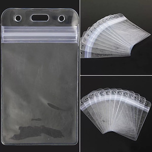 Unisex Popular transparent Clear PVC Plastic Badge Work Exhibition ID Name Waterproof Card Holders