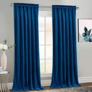 Curtains for Living Room Modern Solid Velvet Bedroom Curtains On the Window Door Blackout High Shading Custom Curtain Drapes LJ201224