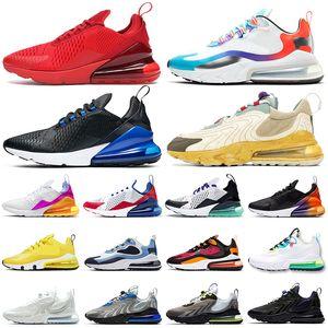 max 270 tepki koşu ayakkabıları airmax 270 s tepki eng üçlü siyah beyaz KIRMIZI Dünya çapında Supernova bayan erkek eğitmenler açık spor sneaker