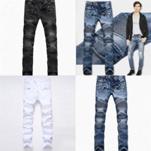 OPOIV s Mens Designer Jeans Distressed Ripped Biker Slim Mans Motorcycle Biker Denim For high quality Men s man boyfriend jeans for Top