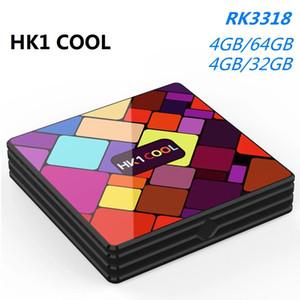 Android 9.0 HK1 بارد مربع التلفزيون 2.4G / 5G المزدوج WIFI BT4.0 Rockchip RK3318 4K مشغل الوسائط PK HK1 MAX