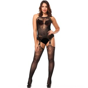 DPROH Nuovo Pantyhose Sling Sling Sling Jacquard Sexy Sexy One-Piece Mesh Pantyhose Hollow Out Sunflower Suspender W268
