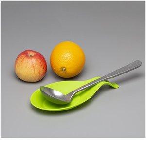1 PCS 9.5 * 19.5cm Cozinha Suprimentos Sile Colher Colher Spot Spoon Pad Prateleira Suporte Spatula Euro SQCLKN