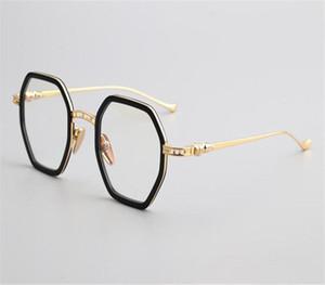 MONGOTEN Pure Titanium Retro Unisex Полный Rim Близорукость очки Brand Design Clear Lens Goggle Оптические очки кадров Женщины Мужчины