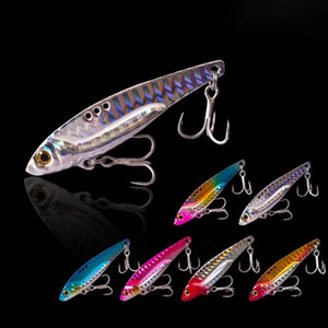 3D Eyes Metal Vib Blade Lure 5 7.5 13 16 20G Sinking Vibration Baits Artificial Vibe for Bass Pike Perch Fishing