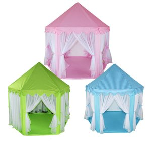 [Funny] Very beautiful Indoor outdoor princess castle House tent foldable child girl park picnic holiday game play tent gift toy