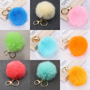 Furry Fashion Fur Ball Keychain Hairballs Pom Pom Keychains Lanyard Keyring Pompom Cute Charms Wallets Car Plush 2 45zg C2