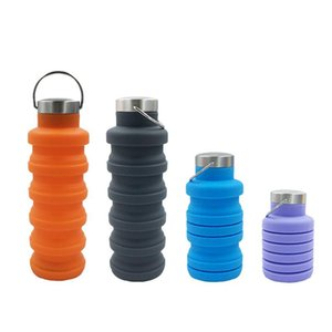 Factory direct sale silicone telescopic collapsible water cup outdoor sports bottle travel water bottle high quality