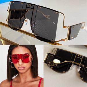 New Fashion Avant-Garde Sunglasses 100103 Design speciale Grande telaio Protezione quadrato Goggle quadrato Top Quality Light Color Eyewear decorativo