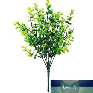 8Pcs Fake grass money leaf green plants for Home Wedding Courtyard Indoor and Outdoor Decoration