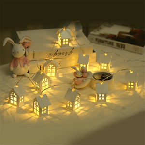 1.5M 10pcs LED Christmas Tree House Style Fairy Light Led String Wedding Natal Garland New Year Christmas Decorations For Home Y1125