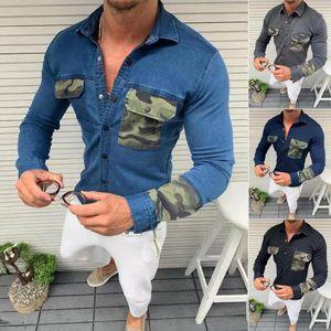 Men Denim jacket Jean Jackets Denim Coat Jean Coats Casual Jackets Tops Long Sleeve Jacket Long Sleeve Coat Men