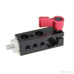 """Camvezza da 1/4 """"Thread Thread Thread to 15mm Single Rod Clamp Video Camcorder SLR Monitor della fotocamera SLR"""