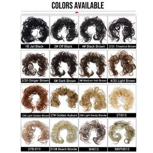 VMAE Wholesale Nouveau Style Mode Coloré Courby Chevillar Chevillar Cheveux Étendue Longueur 31 pouces # 1B # 8 # 613 Extensions de cheveux synthétiques 30g 30g