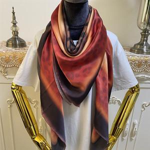 new style women's square scarves shawl 100% silk multi color Gradient Leopard print size 130cm - 130cm