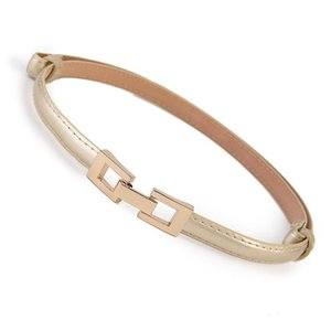 Hot Women's Faux Leather Straps Fashion Gold Belts Women High Quality Patent Leather Waistband Square Buckle Belt Adjust Dress sqcroz