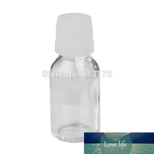 30pcs 15ML Clear Glass Bottles White Screw Tamper Proof Cap Empty Essential Oil Bottle Juice Serum Container Small Sample Vials