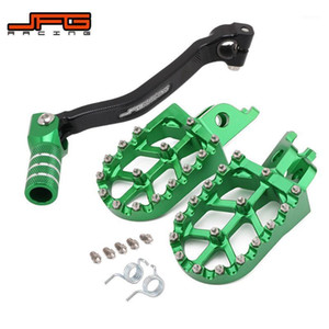 Motorcycle CNC Gear Shift Foot Lever Foot Pegs Rest Footrests Pedals Footpegs For KX250F KXF250 2009-2020 Dirt Bike1