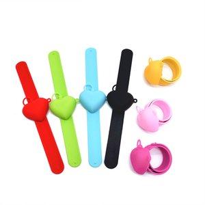 13 estilo silicone mão desinfetante armazenamento pulseira redondo e pulseira em forma de coração Pat Círculo Outdoor Hand Sanitizer Garrafa de armazenamento XD24224
