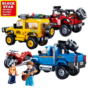 BlockStar Off-Road Vehicle Series Building Blocks Car Model Block Minifigure Brick For Kid Boy Toys Children Christmas Gift Kids Toy