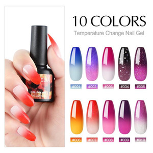 COSCELIA 8ML Gel Nail Polish Thermal Temperature Color Changing UV Gel Hybrid Varnish Soak Off UV LED Lacquers