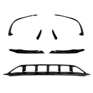 Auto-Styling für 2016-2018 Mercedes-Benz A-Klasse W176 für AMG-Kopf-Vordere Nebel-Nebel-Light-Augenlid-Dekoration deckt Trim-Aufkleber Autozubehör