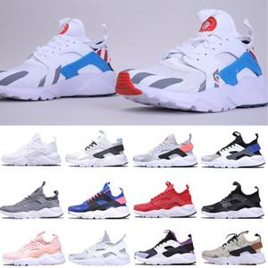 Yeni Huarache 4 Ultra Koşu Ayakkabıları Erkek Ayakkabı Klasik Üçlü Siyah Beyaz Kadın Spor Ayakkabı Eğitmenler Sneakers Yürüyüş Jogging Çorap Ayakkabı
