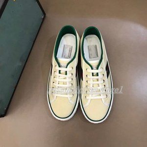 mens womens Design Tennis 1977 Sneaker with Web Green and Red in cotton Luxe Fashion Casual Trainer design shoes for men size 35-46