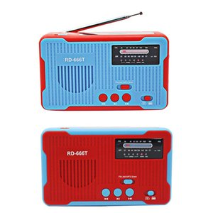 Emergency Radio Solar Powered AM FM Radio Hand Crank with Emergency Alarm Power Bank for MP3 Play