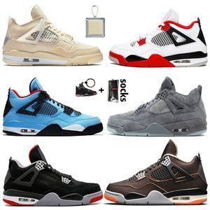 nike air jordan 4 off white retro 4 JUMPMAN 4 Voile 4 4s chaussures de basket-ball Hommes mode Travis-Scotts sneakers femmes Bred FIBA Black Cat formateurs hommes
