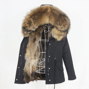 OFTBUY 2020 Waterproof Parka Real Fox Fur Coat Natural Raccoon Fur Collar Hood Winter Jacket Women Warm Outerwear Removable New LJ201203