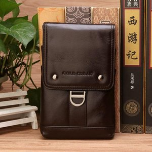 Genuine Leather Men Belt Waist Pack Small Shoulder Messenger Bags Casual Design Phone Pouch Fanny Pack travel Crossbody Bag