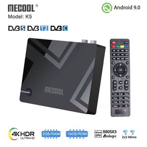 MECOOL K5 Smart Tv Box Android 9.0 Amlogic S905X3 2.4G 5G WIFI LAN 10 100M Bluetooth 4.1 2GB 16GB DVB S2 T2  Set Top BOX