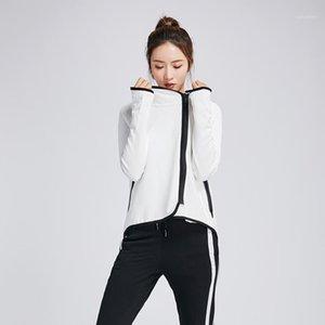 Corriendo chaquetas deportivas chaquetas damas yoga abrigo al aire libre deporte mujeres para entrenamiento1