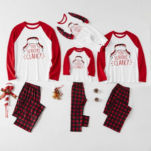 2020 New Christmas Family Matching Pajamas Set Santa Deer Sleepwear For The Family Boys And Girls w-00476