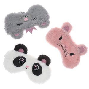 Panda Eye Mask Plush Animal Mouse Bear Deer Eye Cover Cute Plush Eye Mask Girl Toy Suitable For Travel Home Party