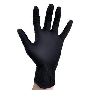 Tek Kullanımlık Lateks Nitril Eldiven Siyah Mavi Beyaz PVC Eldiven Güzellik Saç Boyası Kauçuk Lateks Eldiven Deney Nitril Dövme GWD3704