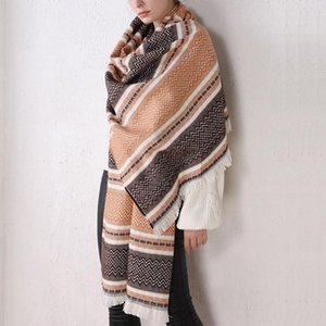 2020 New Fashion Winter Women Scarf Geometric Plaid Jacquard Scarf Female Warm Scarves Shawls Wrap Warm Cashmere