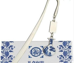 Blue And White Porcelain Bookmark, Chinese Wind Metal, Classical Creative Bookmark, Gift Teacher, Classmate Gift Le jllJzf soif