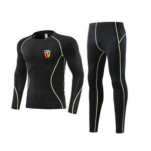 New RC Lens Tight Tracksuit Kids Size 22 Men Training Sets With Soccer Logo Adult sportswear Fit XXL
