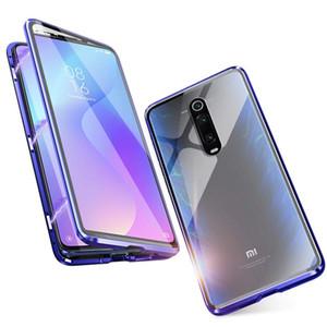 Caso magnético para Xiaomi Redmi Nota 8 9 Pro Double Lateral Temperado Capa de Metal De Vidro Para MI A3 Lite Note 10 Pro 9T 9A CC9E