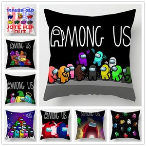 22 Colors No Pillow Insert Square Among Us Game Fans Anime Cute Pillow Case Model Student Bedroom office Gift 45CM
