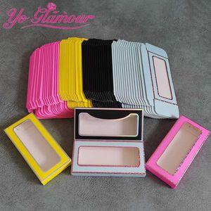 Wholesale Bulk Eyelash Case Box Lash Package For 10-25mm False Mink Lashes New Fashion Empty Eyelash Package Boxes