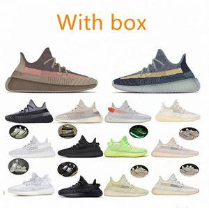 Kanye West V2 yeezy yeezys yezzy yezzys 350 boost Natural Asriel Ceniza de carbono Azul Piedra Piedra Flax Resplandor Diez Oscura Hachersapce Running Shoes Sneakers