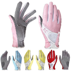 1 Pair Golf Women's Gloves Left Hand and Right Hand Non-slip Golf Gloves Ladies Breathable Outdoor Sports Gloves 201028