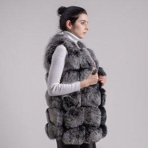 Qiuchen PJ8046 Fox Inverno spessore 70 cm Lungo O-Neck Donne Fashion Alta Qualità Real Very Vendita calda 201120