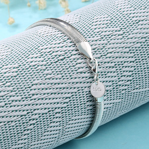 Free Shipping Top Sale gold Silver 6MM Bracelet Blade chain Flat snake chain Bracelet Silver 20Pcs lot cheap 1818