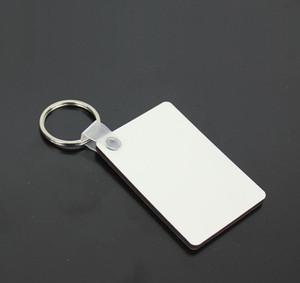 60 * 40 * 3mm Sublimation Blank Keychain MDF Square Pendente a chiave in legno Pendente Transfer Transfer Portachiavi Bianco FAI DA TE Catena chiave Catena Partito Conferimento Regalo DB267