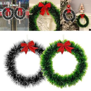 Shining Christmas Wreath Ornament Wall Hanging Decorations Door handle hanging Decor Pendant Party Festival Merry Xmas #26401